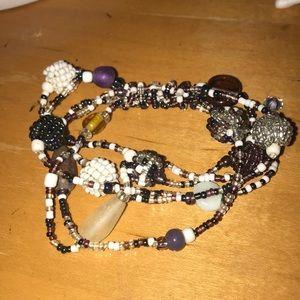 layered purple bracelet